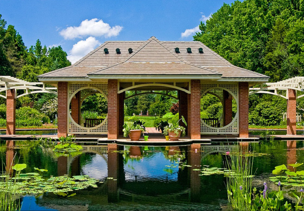 attractions huntsville botanical garden the lake and the house garden