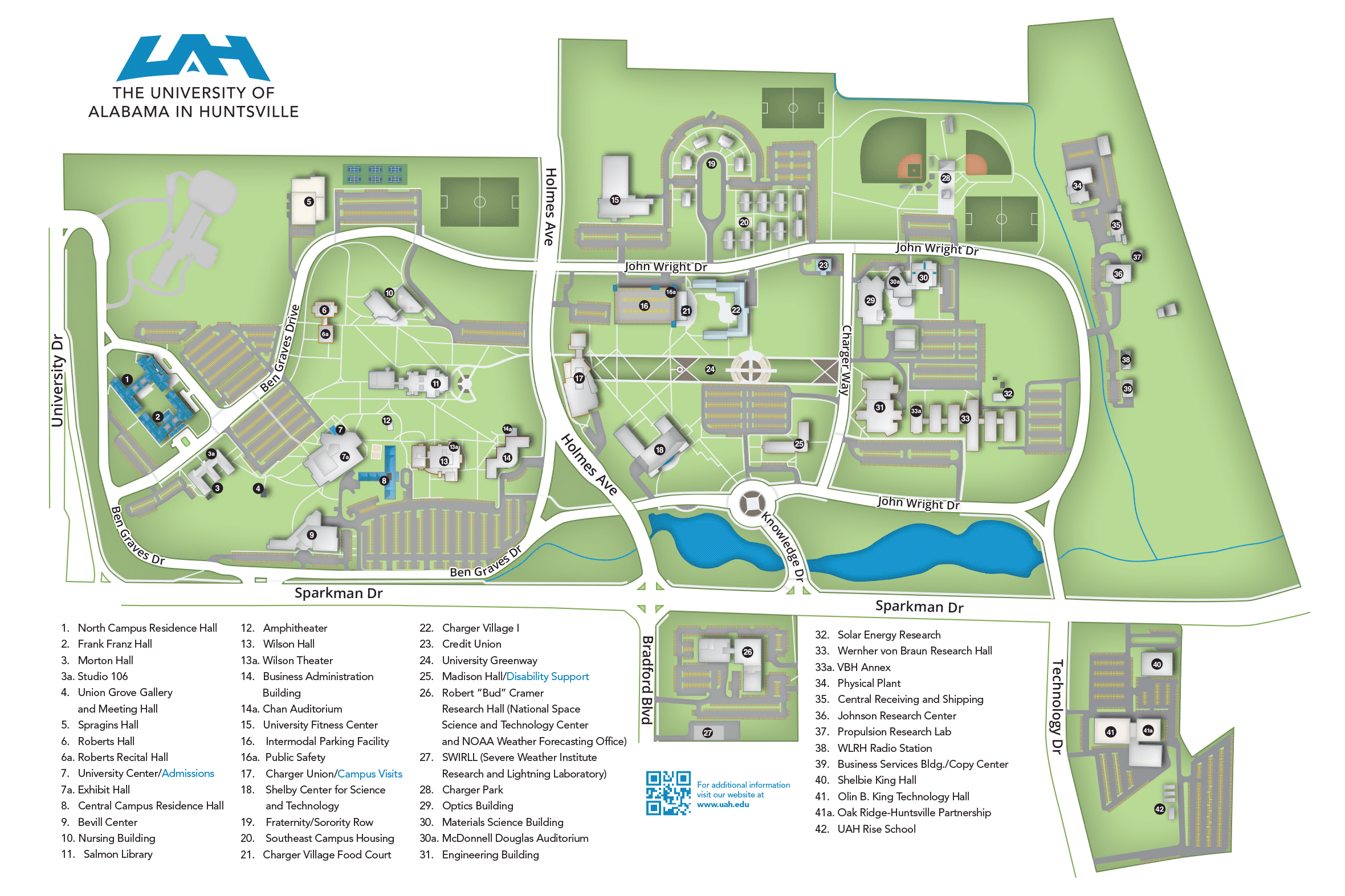 UAH Campus Map
