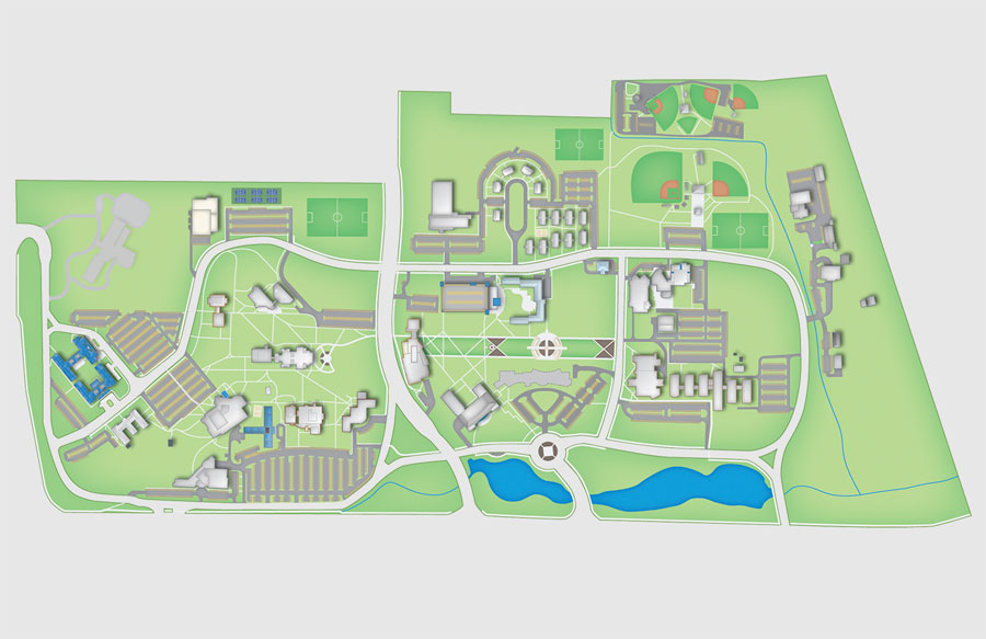 A map of campus