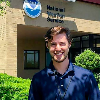 Adam Clayton at NOAA facility