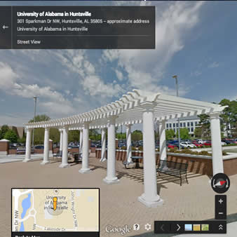 Street View of UAH campus now available