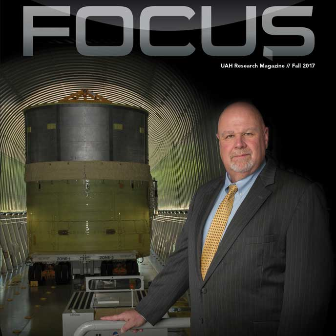 FOCUS: UAH Research Magazine - Fall 2017 cover.