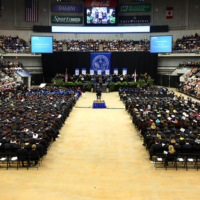 UAH Commencement ceremony at VBC