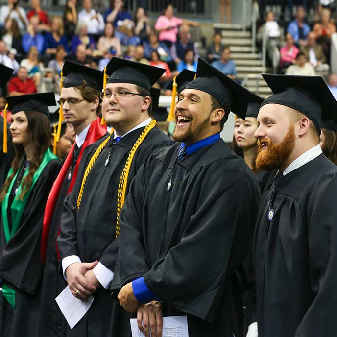 Group of graduates at Commencement