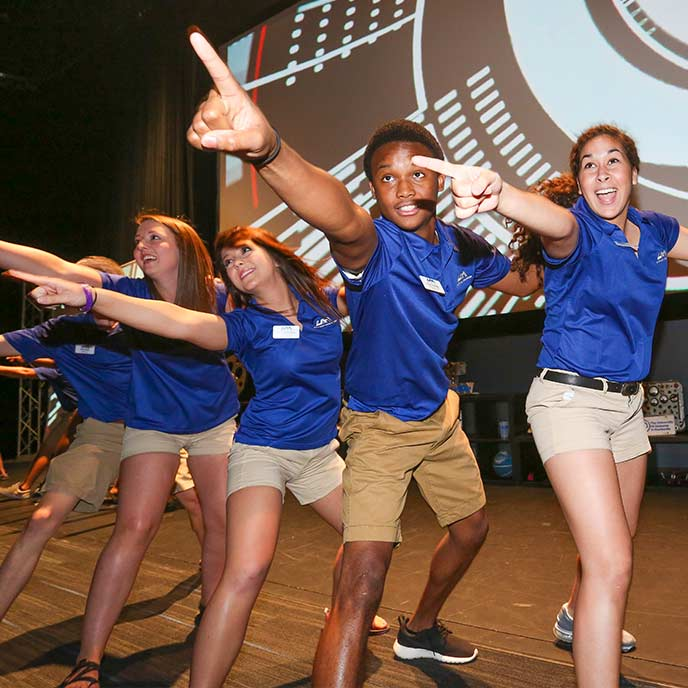 Orientation Leaders welcome new students