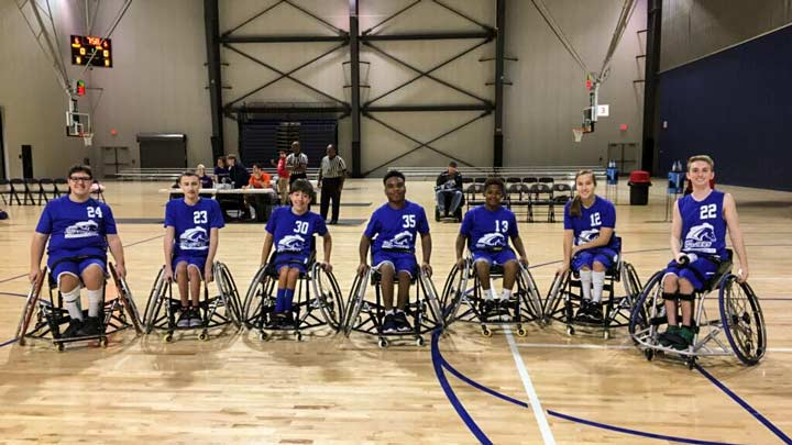UAH's junior varsity wheelchair basketball team