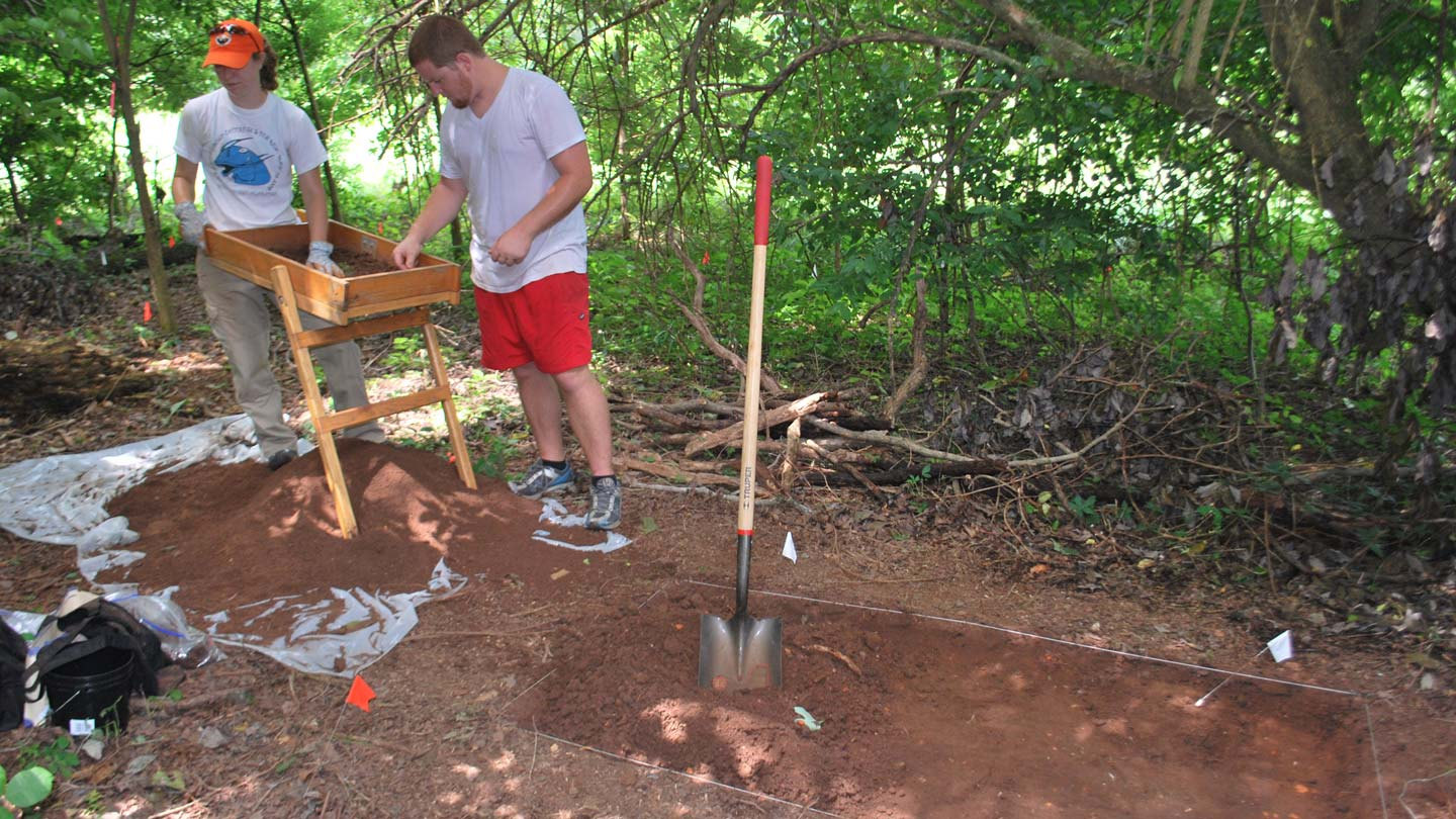 Students uncover the past on Redstone Arsenal in UAH's first archeology field school.
