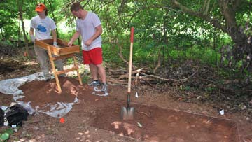 Students uncover the past with UAH's first archeology field school