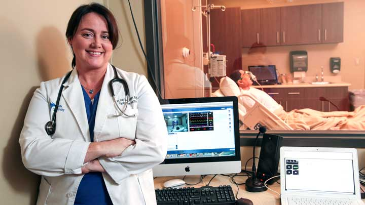 New UAH center consolidates use of simulators to train student nurses