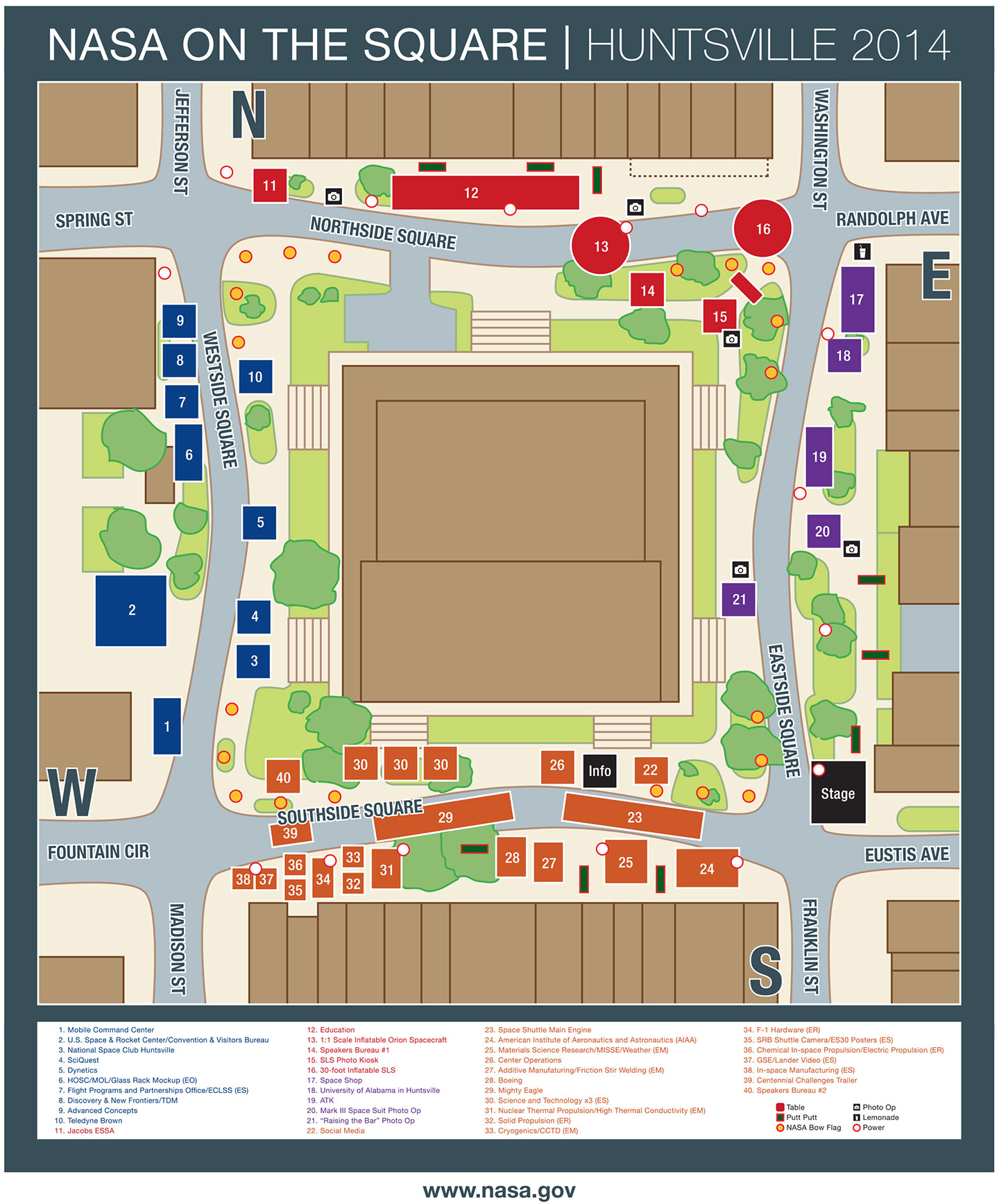 NASA on the Square layout