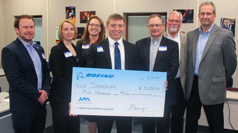 UAH students awarded $10,000 in scholarships at 3rd annual Boeing New Business Challenge