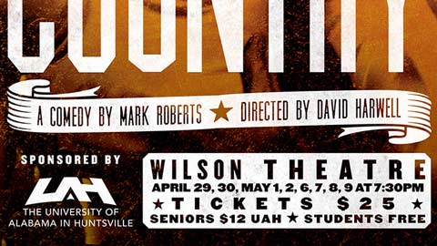 UAH Theatre welcomes off-Broadway comedy from New York