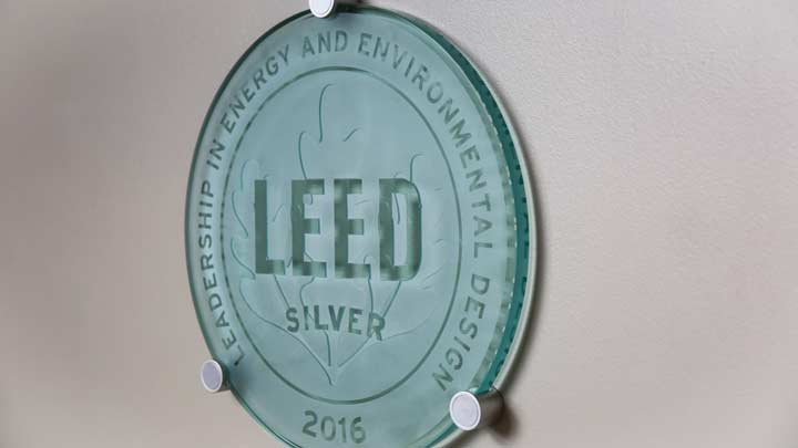 Glass Plaque