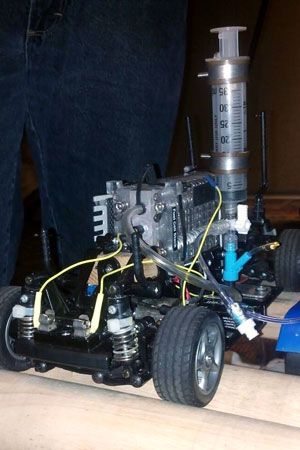 The UAH Chempacitor car, which gets its energy from a proton exchange membrane (PEM) fuel cell.