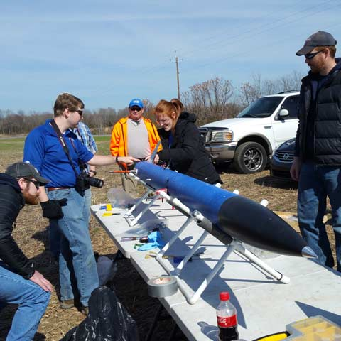 Charger Rocket Works, made up of engineering students at UAH, will compete in the NASA Student Launch competition on April 9, 2017.