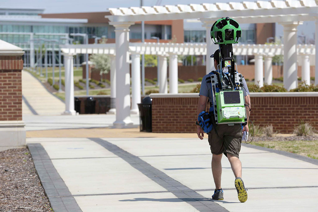 Google Street View Trekker on UAH Campus