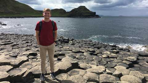 UAH Honors College student Kramer Crider tours Dublin's Silicon Docks