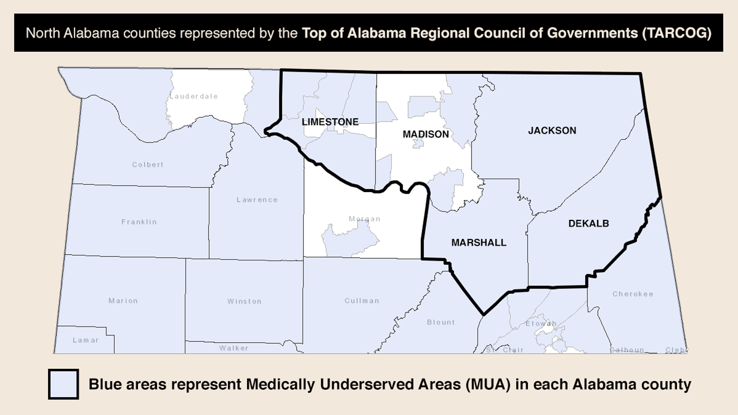North Alabama MUA Map