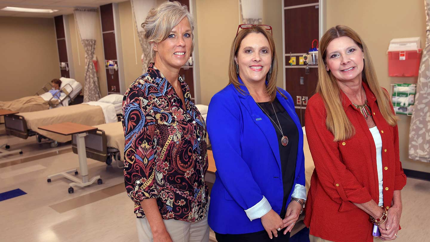 Susan Hammond, Dr. Haley Hoy, and Kim Lassiter