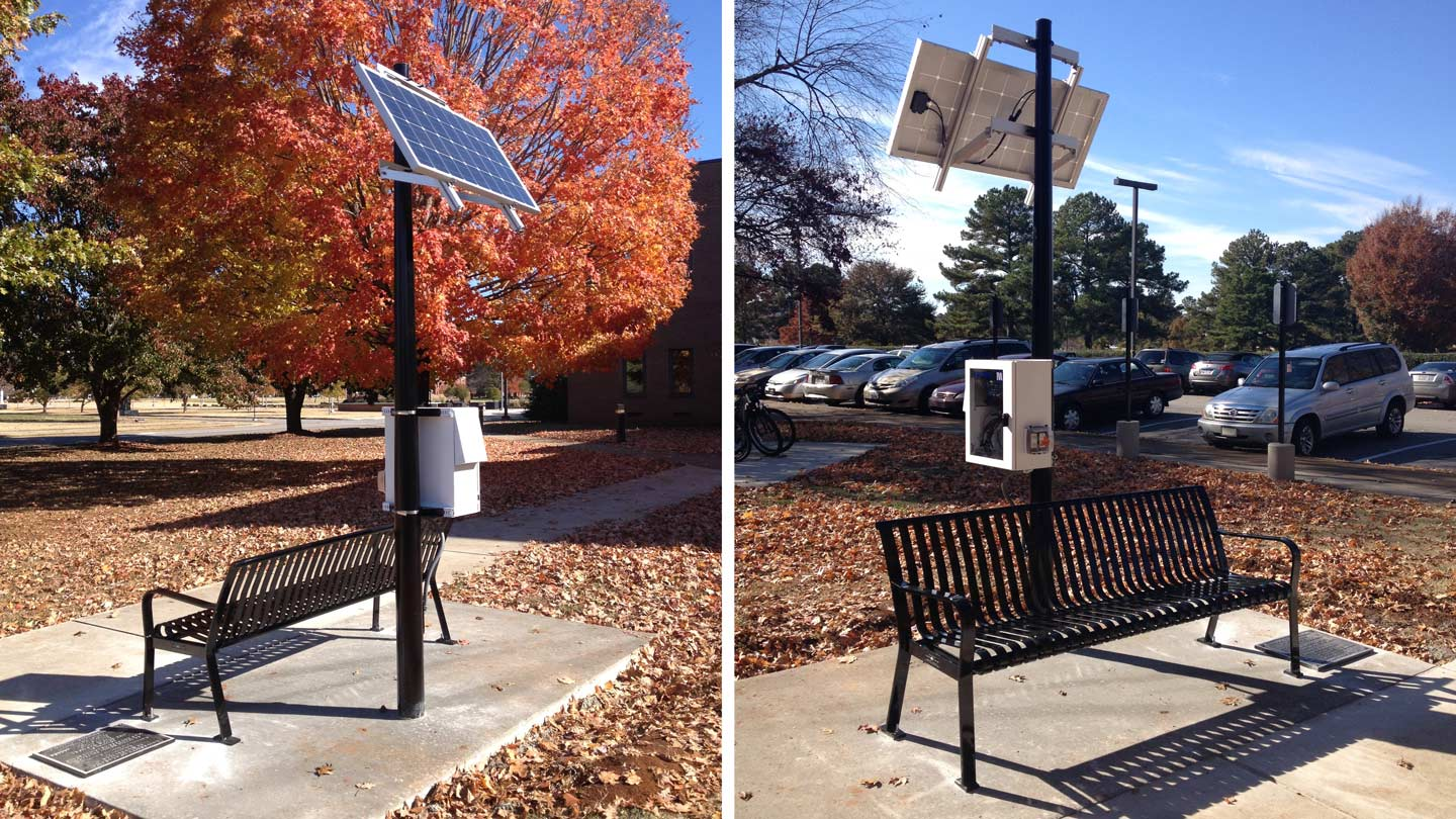 UAH solar-powered charging bench