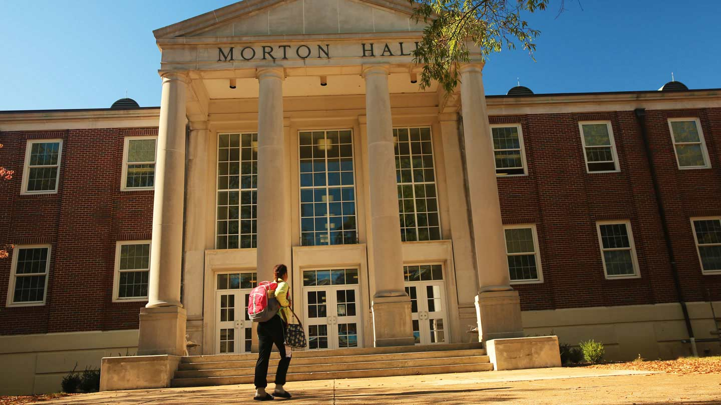 Entrance to Morton Hall.
