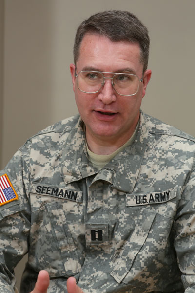 Dr. Eric Seemann, associate professor and faculty advisor to the Veteran Network.