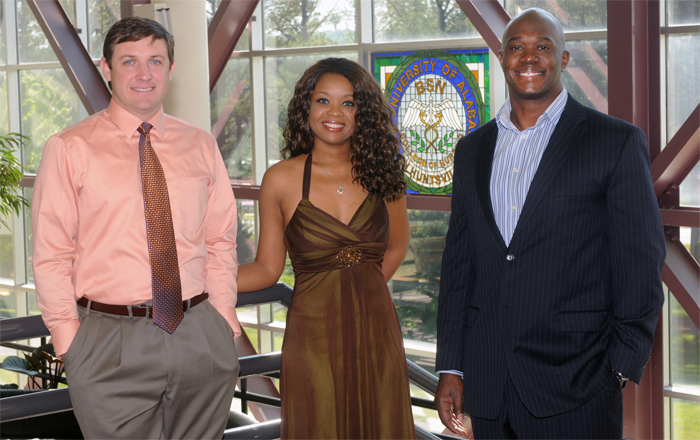a picture of Aaron Ludwick, LaToya Patterson and James Dorsey