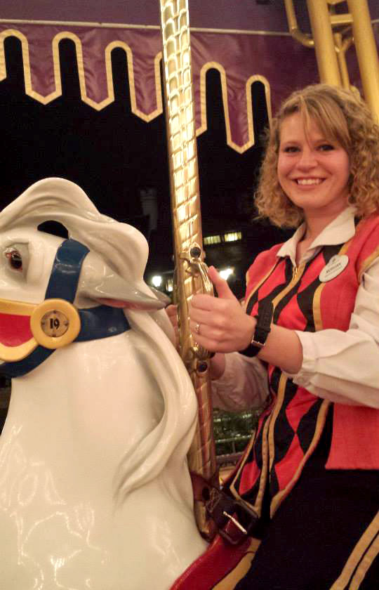 Morgan Gilley on Disney carousel