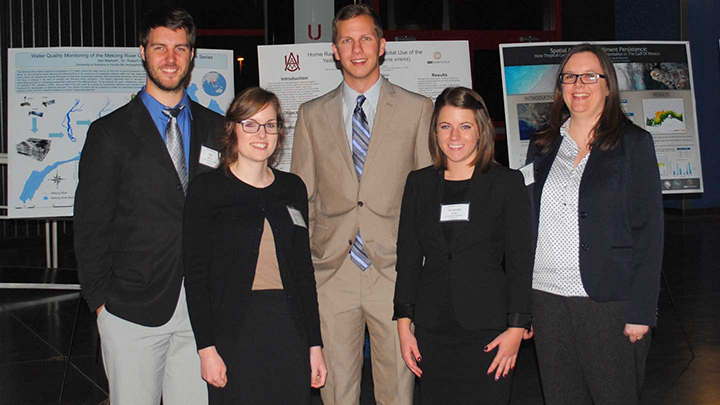 UAH student posters place at  GEO-Huntsville Forum contest