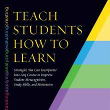 Cover presentation for Saundra McGuire's Teach Students How to Learn