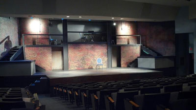 Urinetown, for which Gray was the technical director.