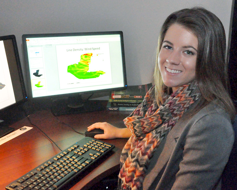 Amanda Weigel, a UAH graduate student in Earth system science at UAH