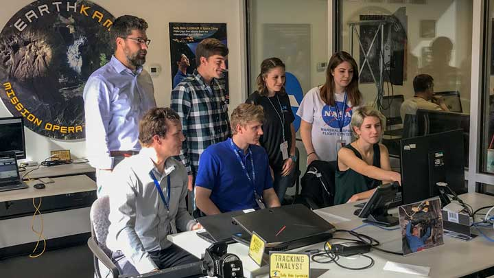 Dr. Robert Griffin and EarthKAM student team