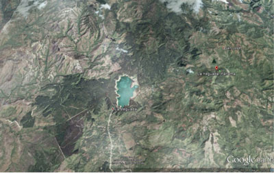 A satellite view of the area where seven UAH students are studying climate change in Panama.