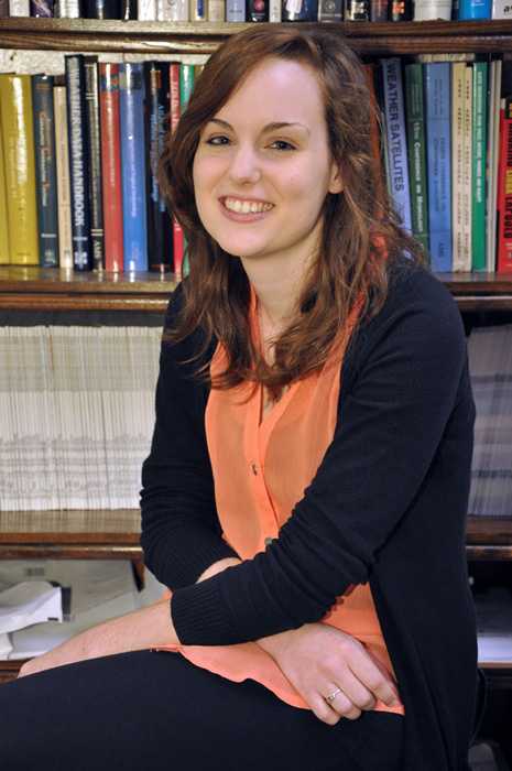 Whitney Cosby, an undergraduate sociology major with a math major at UAH