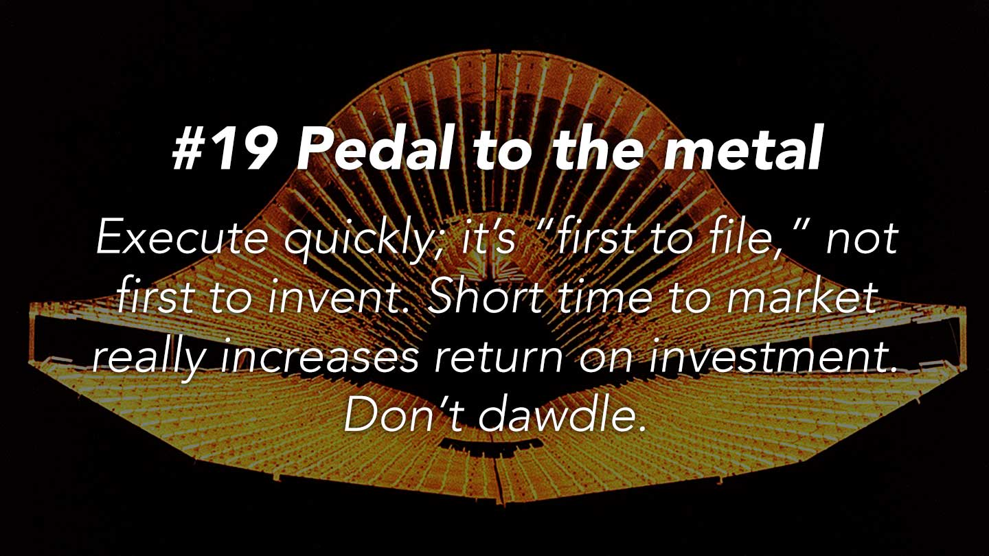 Pedal to the metal. 