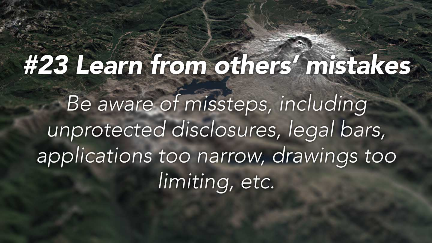 Learn from others' mistakes. 