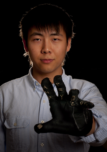 Jiake Liu showing off the gauntlet glove
