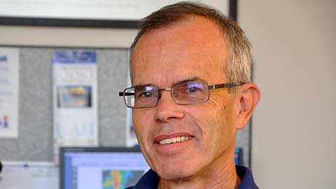 Dr. Kevin Knupp, a UAH professor of atmospheric science