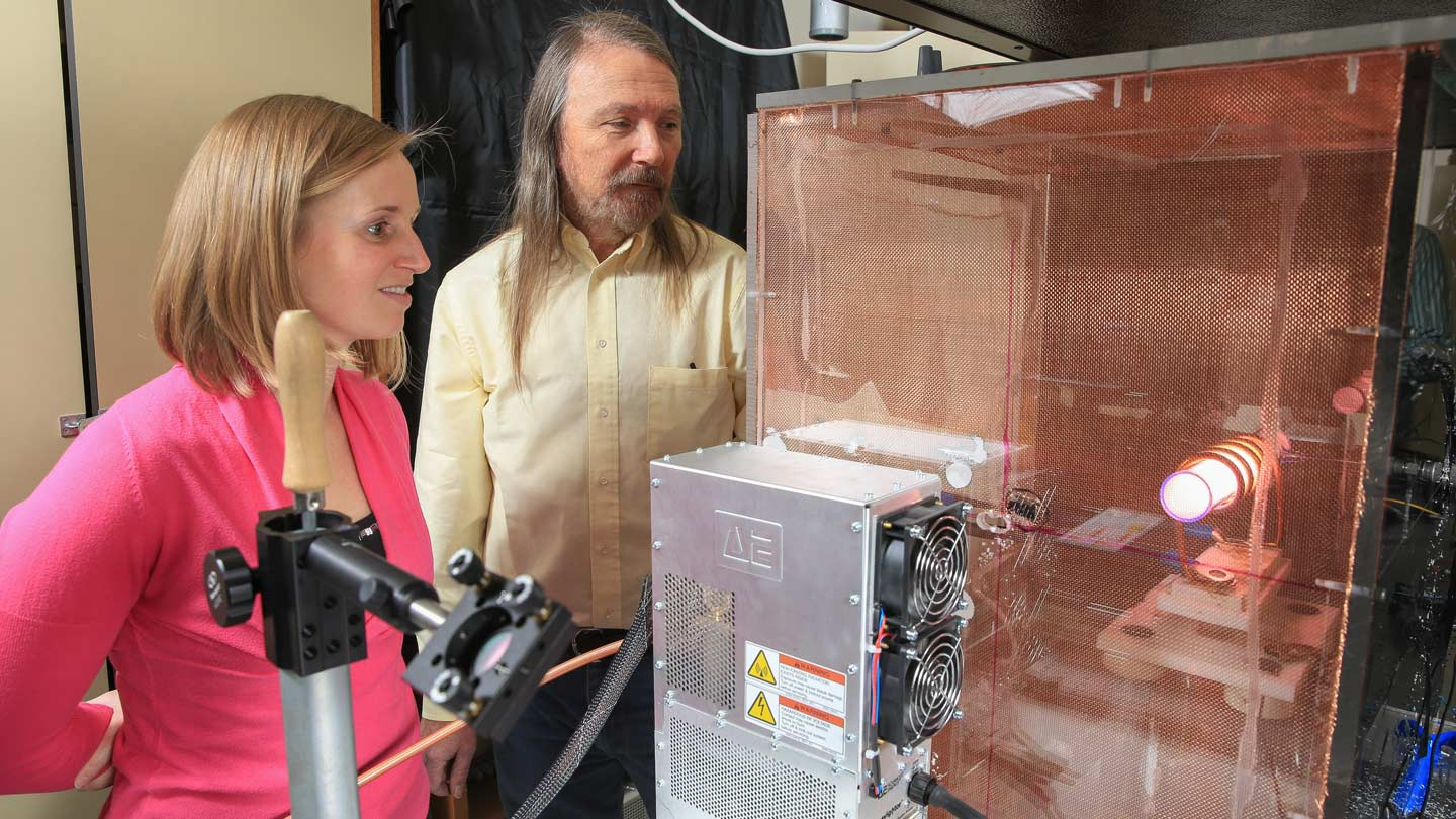 Graduate student lands $400,000 laser technology grant for team