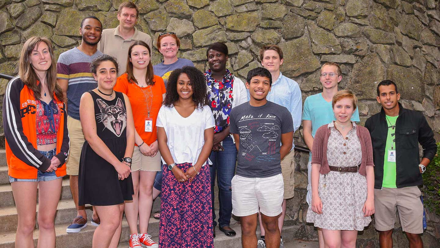 reu physics program students