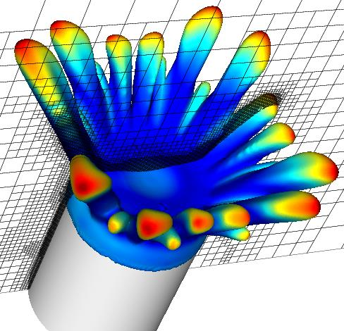 3D simulation of particle kinetics