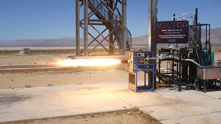 Spark ignitor being tested in the desert