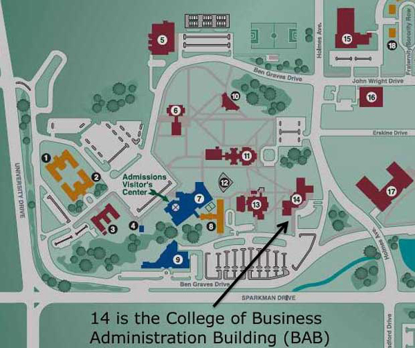 Map of UAH