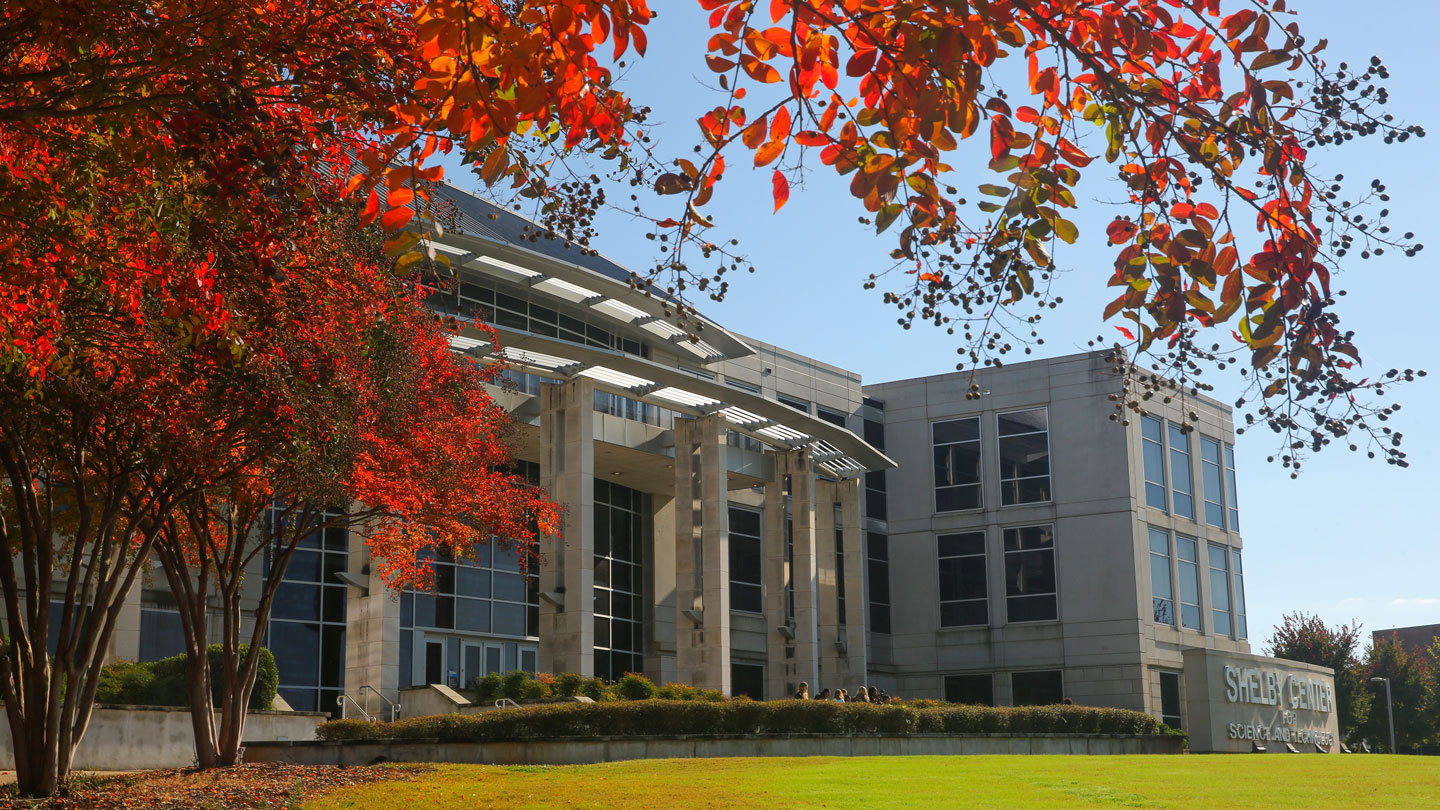 uah shelby center in fall colors