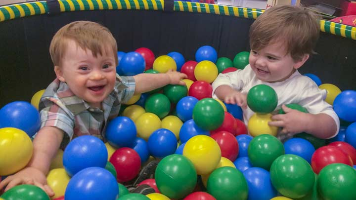 Kids in a ball pit